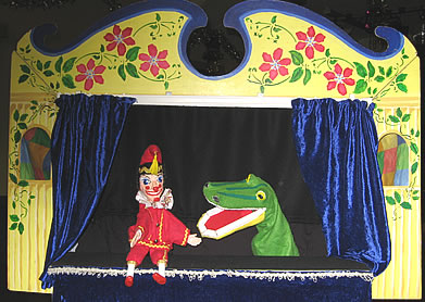 Mr Punch meets the Crocodile